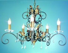 Wrough Iron Candle Chandeliers