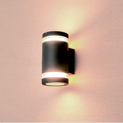 Azure Cylinder Style 2 Bulb Low Energy Outdoor Light