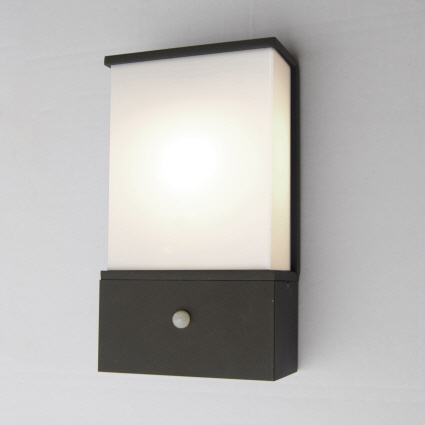 modern outdoor sensor wall lights. azure modern low energy outdoor light with pir sensor + plug wall lights d